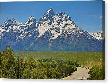 River Canvas Print - Grand Teton National Park And Snake River by Dan Sproul