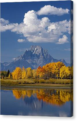 Grand Teton Xii Canvas Print by John Blumenkamp