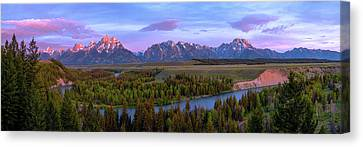 Teton Canvas Print - Grand Tetons by Chad Dutson