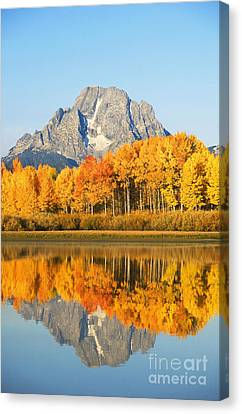 Grand Tetons In Autumn 2 Canvas Print by Ron Dahlquist - Printscapes