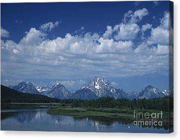Grand Tetons In Spring Canvas Print