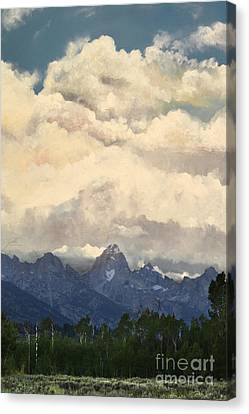 Grand Tetons  Sky Canvas Print by Suzette Kallen