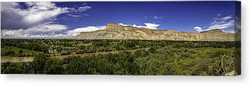 Grand Valley Panorama Canvas Print by Teri Virbickis