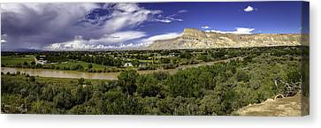 Grand Valley Panoramic Canvas Print by Teri Virbickis