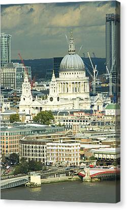 Grand View Of Central London Canvas Print by Charles  Ridgway