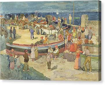 Grande Marina  Capri Canvas Print by Maurice Brazil Prendergast