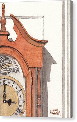 Grandfather Clock Canvas Print by Ken Powers