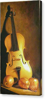 Grandfathers Fiddle Canvas Print