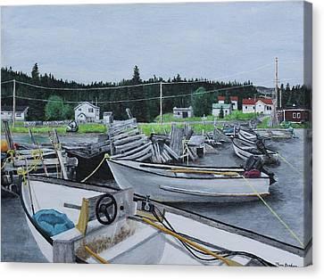 Grandfathers Wharf Canvas Print