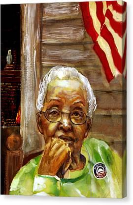 Grandma For Obama Canvas Print by Gary Williams