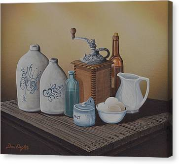 Grandma's Jars Canvas Print by Don Engler