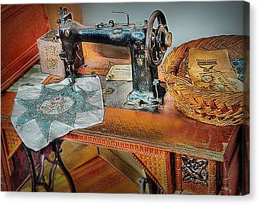 Grandma's Sewing Machine Canvas Print by Michael Ciskowski