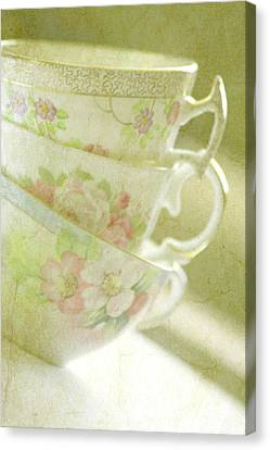 Grandma's Teacups Canvas Print