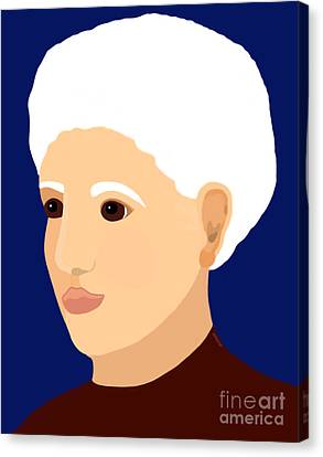 Canvas Print featuring the painting Grandmother by Marian Cates