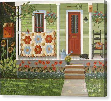Grandmother's Flower Garden Canvas Print