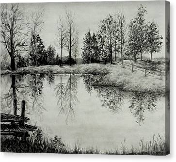 Grandpa's Pond Canvas Print