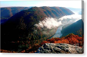 Grandview New River Gorge Canvas Print by Thomas R Fletcher