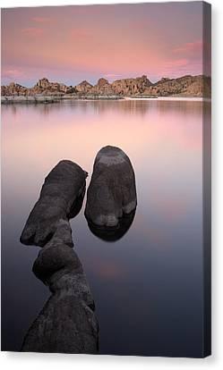 Granite Dells Twilight Canvas Print by Eric Foltz