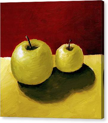 Granny Smith Apples Canvas Print by Michelle Calkins