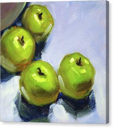 Loose Style Canvas Print - Granny Smith Apples by Nancy Merkle