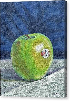Canvas Print featuring the painting Granny Smith by Robert Decker