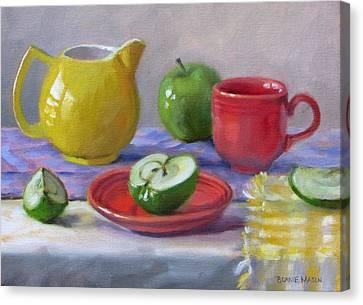 Granny Smiths Canvas Print by Bonnie Mason