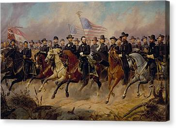 Grant And His Generals Canvas Print