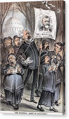 Salvation Army Canvas Print - Grant Cartoon, 1880 by Granger