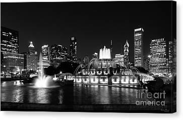 Grant Park Chicago Grayscale Canvas Print
