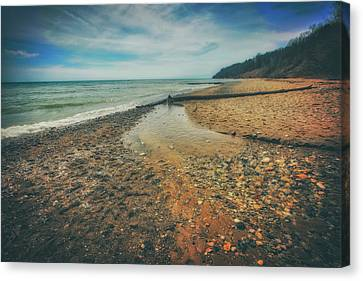 Grant Park - Lake Michigan Beach Canvas Print by Jennifer Rondinelli Reilly - Fine Art Photography