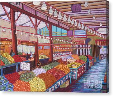 Granville Island Market Bc Canvas Print by Rae  Smith
