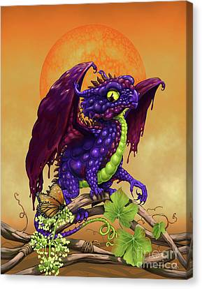 Canvas Print featuring the digital art Grape Jelly Dragon by Stanley Morrison