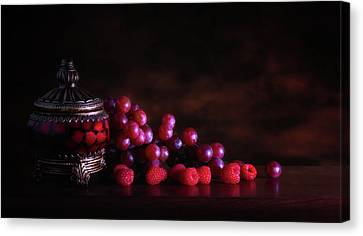 Grape Raspberry Canvas Print by Tom Mc Nemar