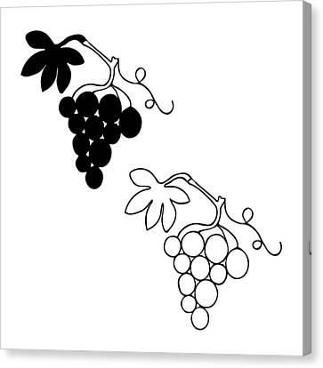 Grocery Store Canvas Print - Grape Shape by Lenka Rottova