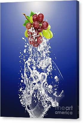 Pop Canvas Print - Grape Splash by Marvin Blaine