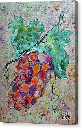 Grape Vine Fiesta Canvas Print by Ella Kaye Dickey