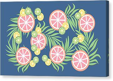 Sour Canvas Print - Grapefruit  by Lauren Amelia Hughes