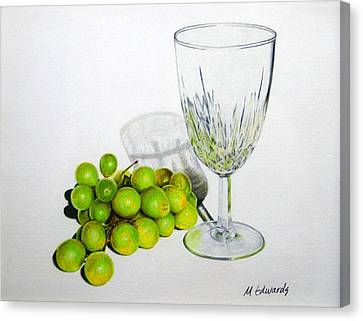 Grapes And Crystal Canvas Print by Marna Edwards Flavell
