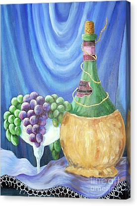Grapes And Lace Canvas Print by Janna Columbus