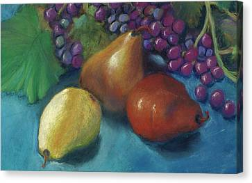 Canvas Print featuring the pastel Grapes And Pears 2 Pastel by Antonia Citrino