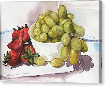 Grapes And Strawberries Canvas Print