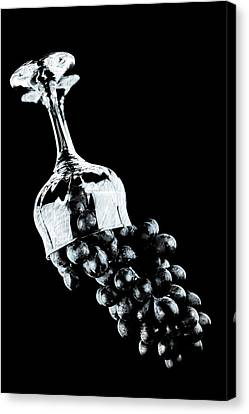 Grapes In A Glass  Canvas Print by Tommytechno Sweden