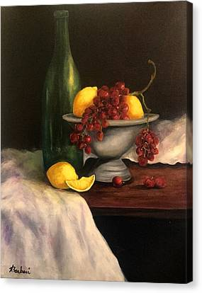 Grapes In Pewter  Canvas Print