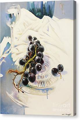 Grapes Canvas Print by Lin Petershagen
