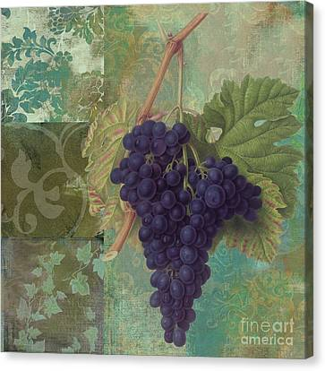 Purple Grapes Canvas Print - Grapes Margaux by Mindy Sommers