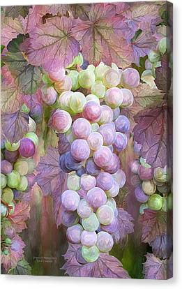 Canvas Print featuring the mixed media Grapes Of Many Colors by Carol Cavalaris