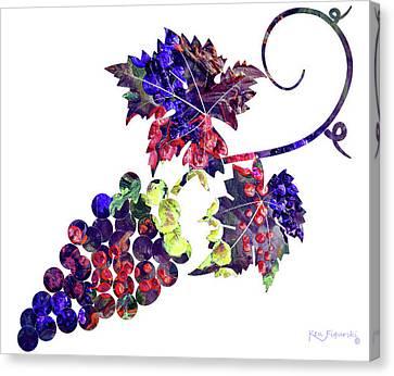 Malbec Canvas Print - Grapes On The Vine  by Ken Figurski