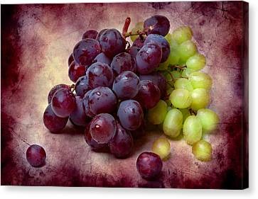 Canvas Print featuring the photograph Grapes Red And Green by Alexander Senin