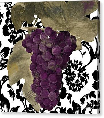 Purple Grapes Canvas Print - Grapes Suzette by Mindy Sommers