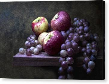 Produce Canvas Print - Grapes With Apples by Tom Mc Nemar